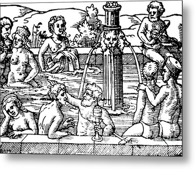 Open-air Bath Balneology 1571 Metal Print by Science Source