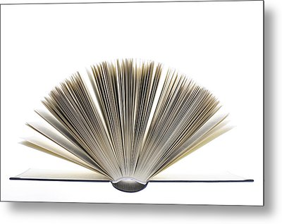 Open Book Metal Print by Frank Tschakert