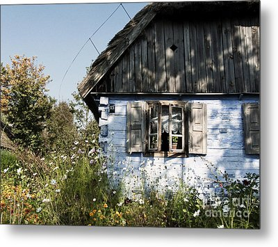 Open Window On Late Summer Afternoon Metal Print by Agnieszka Kubica