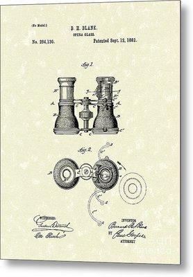 Opera Glass 1882 Patent Art Metal Print by Prior Art Design
