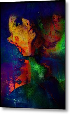 Ophelia In Neon Metal Print by Adam Kissel