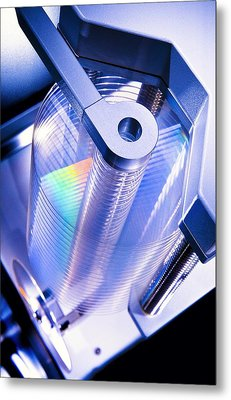 Optical Disc Production Machine Metal Print by Richard Kail