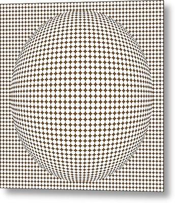 Optical Illusion Brown Ball Metal Print by Sumit Mehndiratta