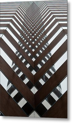 Optical Illusion Metal Print by Keith Allen