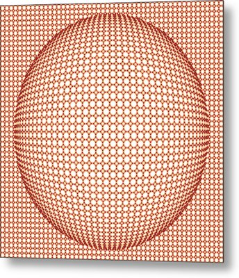 Optical Illusion Orange Ball Metal Print by Sumit Mehndiratta