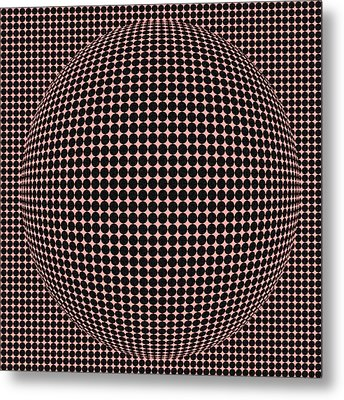 Optical Illusion Red Ball  Metal Print by Sumit Mehndiratta
