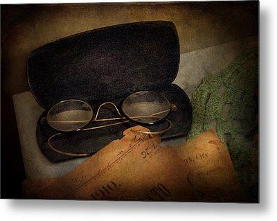 Optometrist - Glasses For Reading  Metal Print by Mike Savad