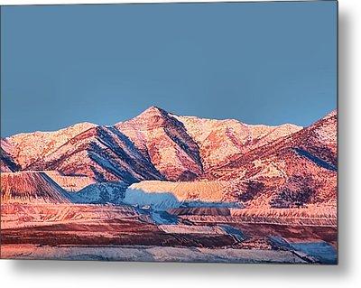 Oquirrh Mountains Utah First Snow Metal Print by Tracie Kaska