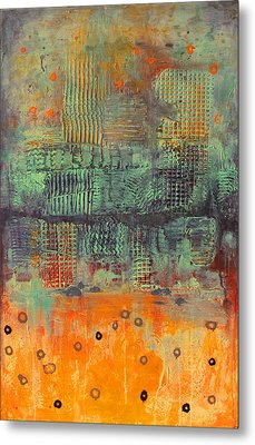 Metal Print featuring the painting Orange Abstract by Lolita Bronzini