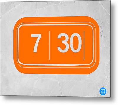 Orange Alarm Metal Print by Naxart Studio