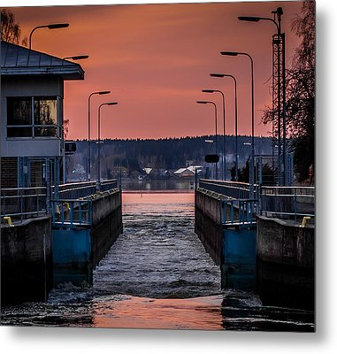 Metal Print featuring the photograph Orange Canal by Matti Ollikainen