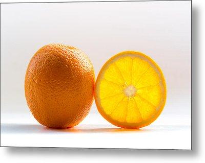 Orange Fruit Composition Metal Print by by Felix Schmidt