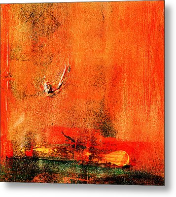 Metal Print featuring the painting Orange Glow by Carolyn Repka