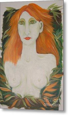 Orange Hair Metal Print by Rachel Carmichael