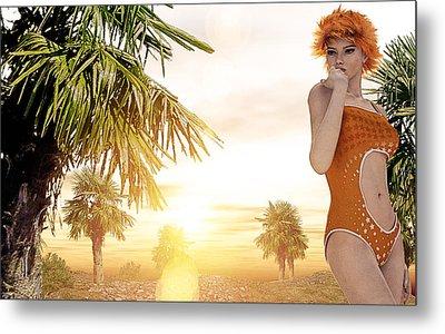 Orange Sunset Metal Print by Maynard Ellis