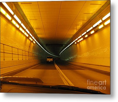 Orange Tunnel In Dc Metal Print by Ausra Huntington nee Paulauskaite
