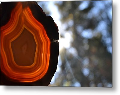 Orange Turn Metal Print by Chad Wasden