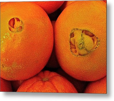 Metal Print featuring the photograph Oranges by Bill Owen