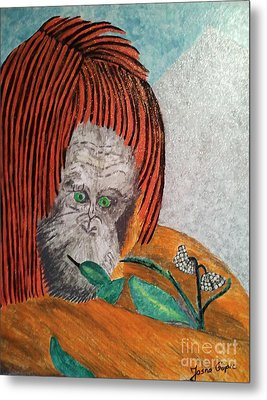 Metal Print featuring the painting Orangutan by Jasna Gopic