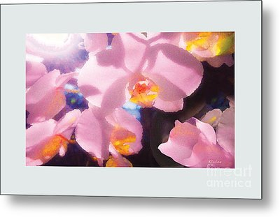 Metal Print featuring the digital art Orchids by David Klaboe