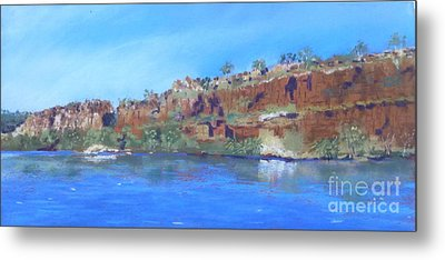 Ord River Afteroon Cruise Metal Print by Nadine Kelly