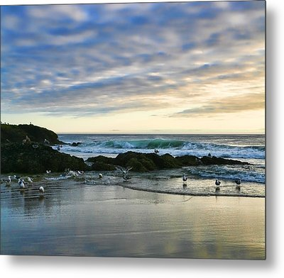Oregon Coast At Dusk Metal Print by Bonnie Bruno