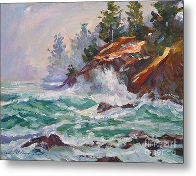 Oregon Coastal Mist Metal Print