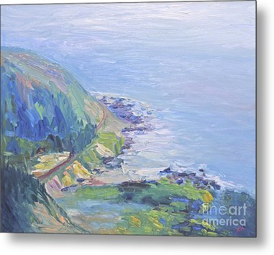 Oregon Coastline Metal Print by Barbara Anna Knauf