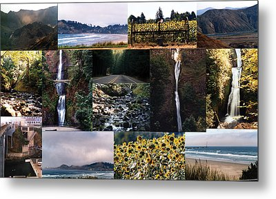 Oregon Collage From Sept 11 Pics Metal Print by Maureen E Ritter