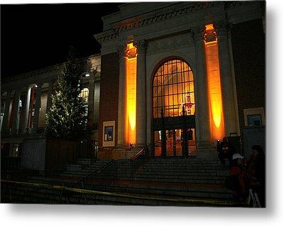 Oregon State Orange Lights At Memorial Union Metal Print by Oregon State University