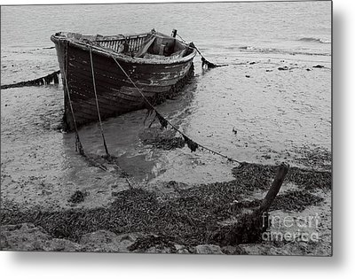 Orford Wreck Metal Print by Darren Burroughs
