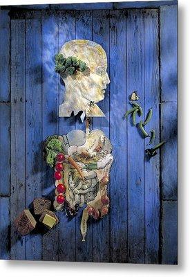 Organic Food, Conceptual Image Metal Print by Paul Biddle