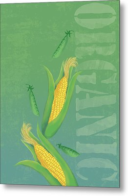 Organic Produce Illustration Metal Print by Don Bishop