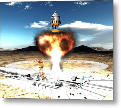 Orion-drive Spacecraft Using Atomic Metal Print by Rhys Taylor