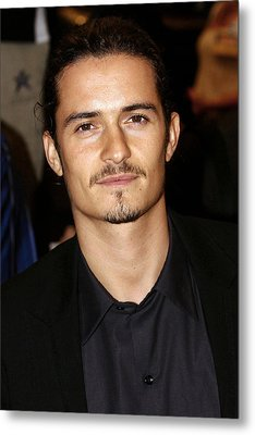Orlando Bloom At Arrivals Metal Print by Everett