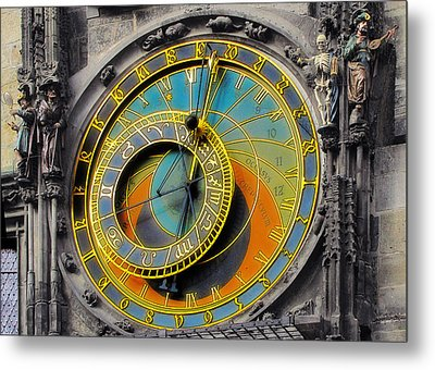 Orloj - Astronomical Clock - Prague Metal Print