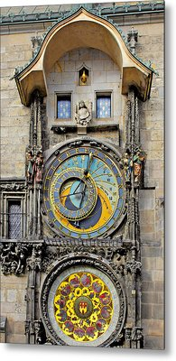 Orloj - Prague Astronomical Clock Metal Print by Christine Till