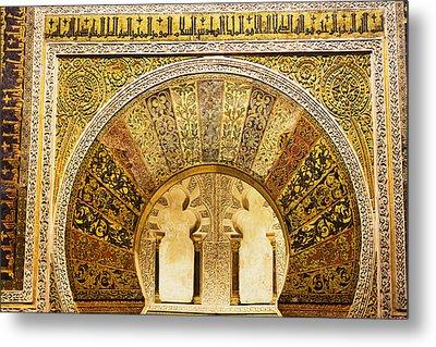 Ornate Mezquita Mihrab In Cordoba Metal Print by Artur Bogacki