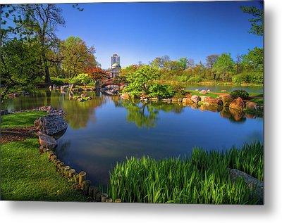 Osaka Garden Pond Metal Print by Jonah  Anderson