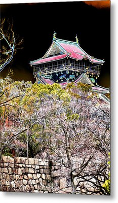 Osaka Temple Metal Print by Allan Rothman