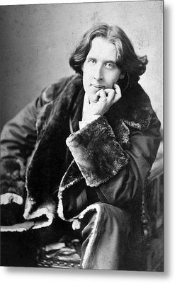 Oscar Wilde 1864-1900, Photograph Metal Print by Everett