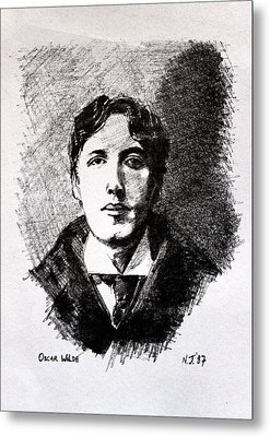 Oscar Wilde Metal Print by John  Nolan