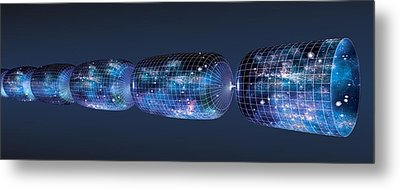 Oscillating Universe Theory, Artwork Metal Print