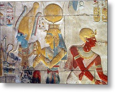 Osiris And Isis, Abydos Metal Print by Joe & Clair Carnegie / Libyan Soup
