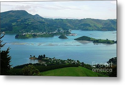 Otago Harbour Metal Print by Therese Alcorn