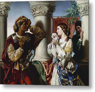 Othello And Desdemona Metal Print