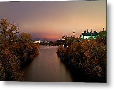 Ottawa At Night Metal Print by Andre Faubert