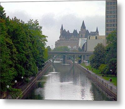 Ottawa Rideau Canal Metal Print by Valentino Visentini