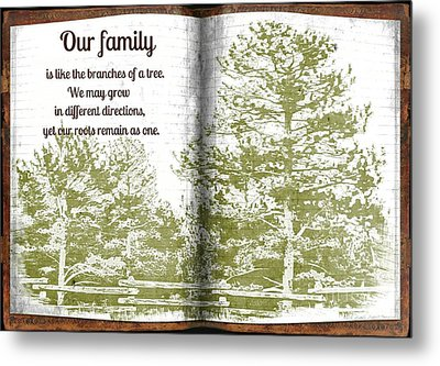 Our Family Roots Metal Print by Michelle Frizzell-Thompson