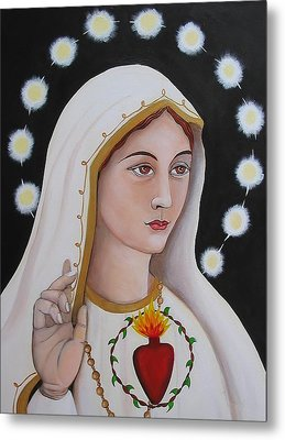 Our Lady Of Fatima Metal Print by Christina Miller